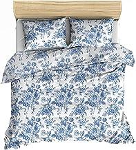 Lemur soloi Bleu Sets de Housse de Couette 200x200 cm + 2 taies d'oreiller 65x65 cm, 100% Coton
