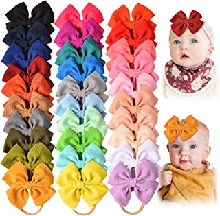 30 PCS Big Bows Baby Nylon Headbands Hairbands Hair Bows...