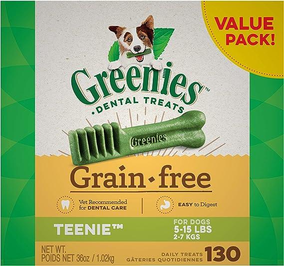 Greenies Grain Free Teenie Natural Oral Health Dog Treats | Amazon