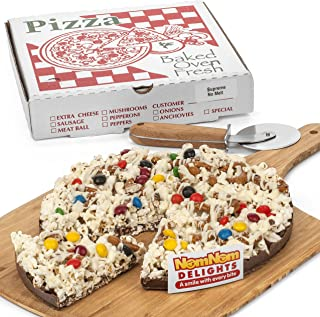 Gourmet Chocolate Gift Box | Milk Chocolate Candy Pieces Chocolate Lovers Popcorn Pizza | Kosher Certified - By NomNom Delights