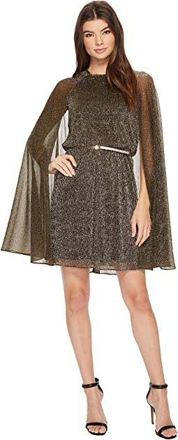 Calvin Klein - Belted Glitter Cape Dress CD7A22AM