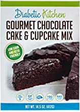 Diabetic Kitchen Gourmet Chocolate Cake & Cupcake Mix Is Keto-Friendly, Low-Carb, No Sugar Added, Gluten-Free, 15g of Fiber, Non-GMO, No Artificial Sweeteners or Sugar Alcohols