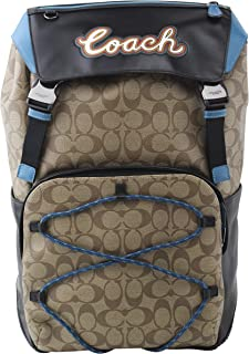 Men's Terrain Coated Canvas Leathers Backpack In QB Tan, Style F76793