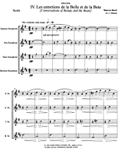 Conversations of Beauty and the Beast for Saxophone Quartet by Maurice Ravel