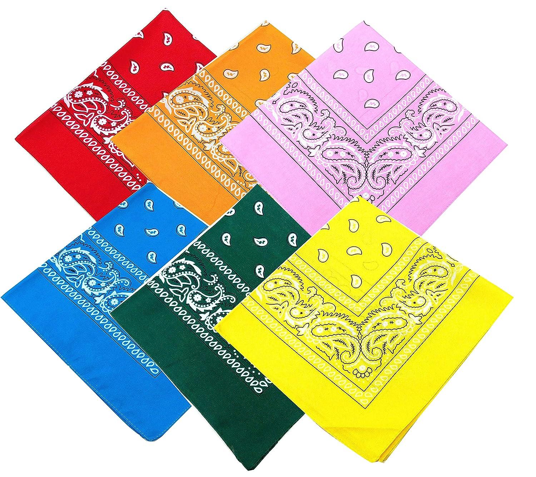 6PCS Bandanas for Women Men San Diego Mall He Cotton Paisley store Handkerchief Large