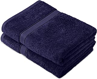Pinzon by Amazon - Egyptian Cotton Towel Set, 2 Bath Towels - Navy, 600gsm