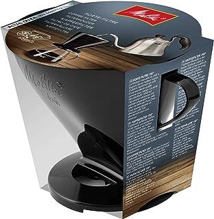 Melitta Kaffehållare för filterpåsar, kaffefilter 1 x 6 standard, plast, svart, 217571