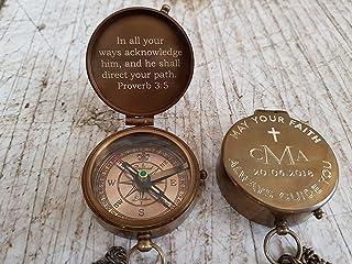 baptism gift, baptism day gift, engraved compass, baptism compass