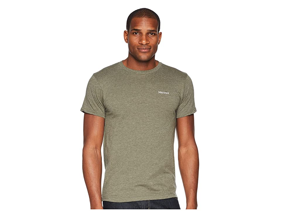 Marmot Short Sleeve Marwing Tee (Olive Heather) Men
