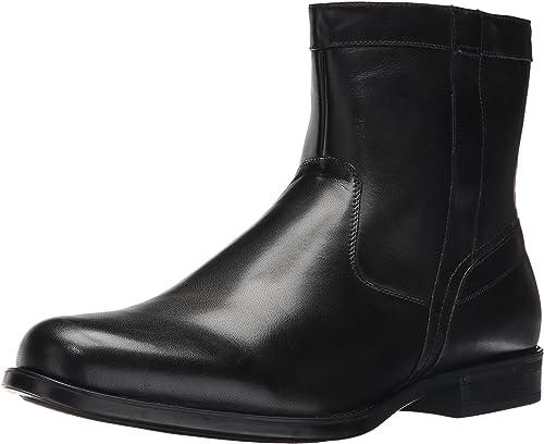 Florsheim Hommes's Medfield Plain Toe Zip démarrage Fashion, noir, 9 3E US
