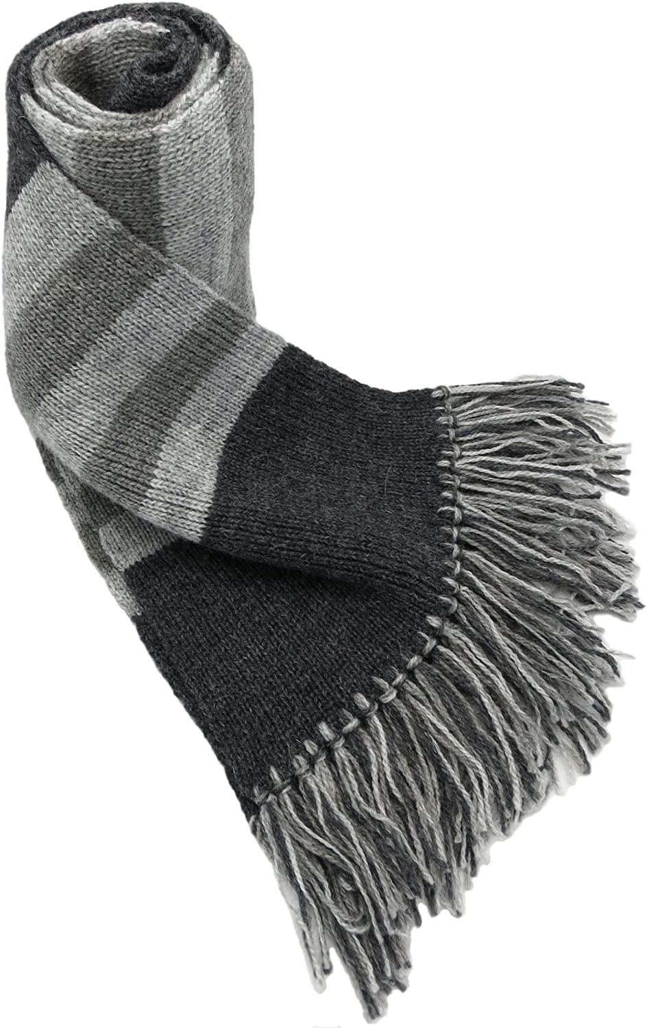 MADE TO ORDER IN ANY COLOR - Alpaca and Wool Winter Scarf for Men