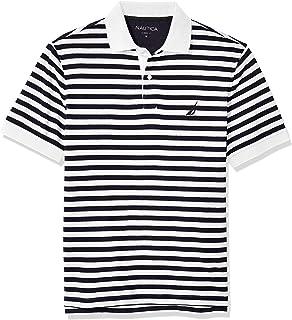 Men's Classic Fit 100% Cotton Soft Short Sleeve Stripe...