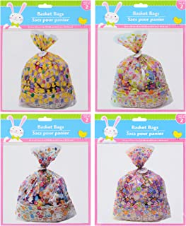 (2) Pack of Easter Cellophane Basket Bags 22-in. X 25-in