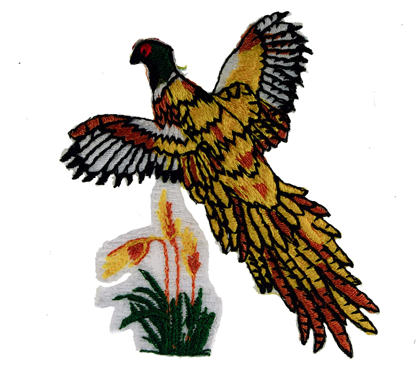 Pheasant Flying Applique Iron Sew on Patch PPM