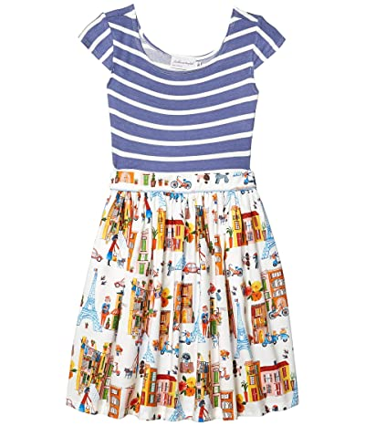 fiveloaves twofish Maddie Paris Stroll Dress (Little Kids/Big Kids) (Blue) Girl