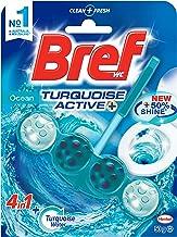 Bref Turquoise Active Ocean, Rim Block Toilet Cleaner, 50g