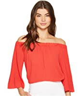 1.STATE - Off Shoulder Bell Sleeve Blouse