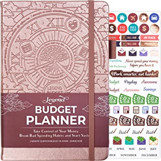 Legend Budget Planner - Deluxe Financial Planner Organizer & Budget Book. Money Planner Account Book & Expense Tracker Notebook Journal for Household Monthly Budgeting & Personal Finance – Rose Gold