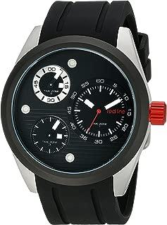 red line Men's RL-10557-01-BB Jetstream Analog Display Quartz Black Watch