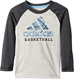 adidas Kids - Logo Skins Tee (Toddler/Little Kids)