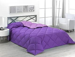 Sabanalia - Edredón nórdico de 400 g reversible (bicolor), para cama de 90/105 cm, color lila y morado