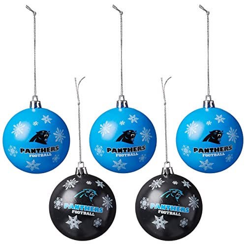 FOCO NFL Unisex 2016 5 Pack Shatterproof Ball Ornament Set 2b6b59b39