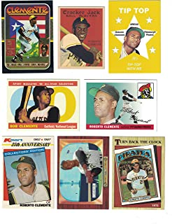 Roberto Clemente / 15 Different Baseball Cards Featuring Roberto Clemente with bonus Roberto Clemente Postage Stamp!