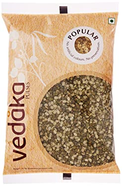 Amazon Brand - Vedaka Popular Green Moong Split / Chilka, 1 kg