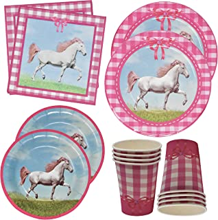 Horse Birthday Party Supplies Includes 24 9