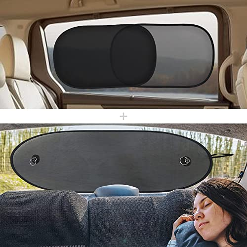 lowest EcoNour Gift Bundle | Car Shades for Side Windows 20x12 Inches (4 Pack) + Sun Shade for Back Car Window new arrival (39 x 17 Inches) | Total Sun Glare and Heat Protection | Car Travel 2021 Accessories outlet sale