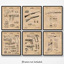 Original Remington J M Browning Patent Art Poster Prints, Set of 6 (8x10) Unframed Photos, Great Wall Art Decor Gifts Under 25 for Home, Office, Garage, Man Cave, Cowboys, Student, NRA & Movies Fan