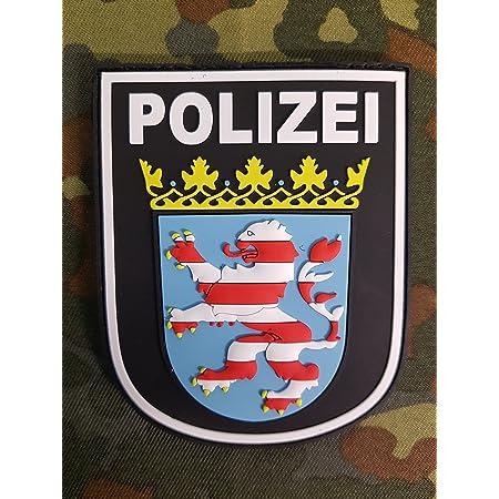 Atg Ärmelabzeichen Polizei Hessen 3 D Rubber Patch Farbig Auto