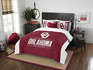 THE NORTHWEST COMPANY Officially Licensed NCAA Oklahoma Sooners Modern Take Full/Queen Comforter and 2 Sham Set