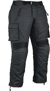 Mens Cargo Motorbike Protective Trousers Waterproof, W42 L32