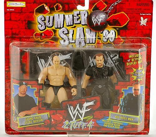 WWE Wrestling Action Figure 2Pack 2 Tuff 4 été Slam 99 Big Boss Man Vs. Stone Cold Steve Austin by Jakks Pacific by Jakks Pacific