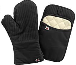 Big Red House Oven Mitts and Pot Holders Sets, with The Heat Resistance of Silicone and Flexibility of Cotton, Recycled Co...