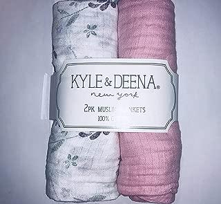 Kyle & Deena 2 pk. Muslin Blankets