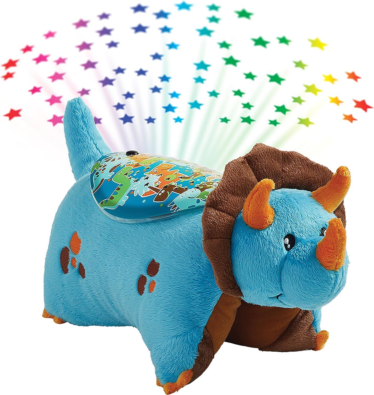 Pillow Pets bluee Dinosaur Stuffed Animal Sleeptime Lites Plush Night Light