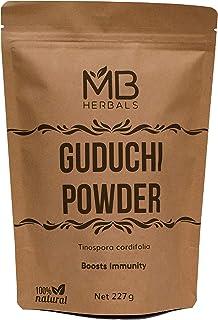 MB Herbals Guduchi Powder 227 Gram   Half Pound   Neem-Giloy   Processed from The Stems of Tinospora cordifolia Plants Gro...