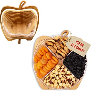 Nuts and Dried Fruit Gourmet Fresh Assortment Tray, Turns into Basket,Family-Birthday Parties, Thanksgiving &Christmas, Fa...