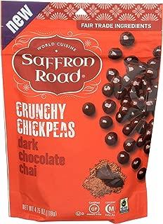 SAFFRON ROAD Dark Chocolate Chai Crunchy Chickpeas, 4.15 OZ