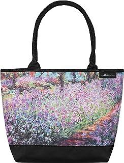 VON LILIENFELD Handtasche Damen Kunst Motiv Blumen Claude Monet Der Garten Shopper Maße L42 x H30 x T15 cm Strandtasche He...