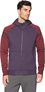 Peak Velocity Men's Metro Fleece Full-Zip Athletic-Fit Varsity Hoodie