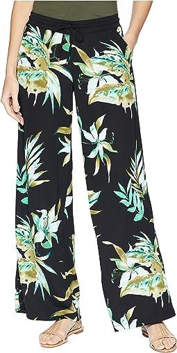 Print Jersey Wide-Leg Pants