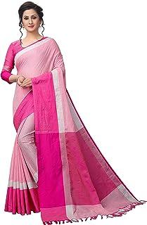 Perfectblue Women's Linen Saree With Blouse Piece (LinenMishvaVariation)