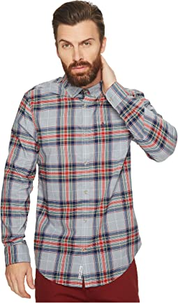 Original Penguin - Long Sleeve Heather Stretch P55 Plaid Shirt