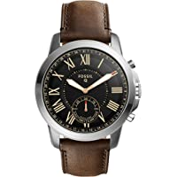 Fossil Q Grant Dark Brown Leather Hybrid Men's Smartwatch (Stainless Steel)