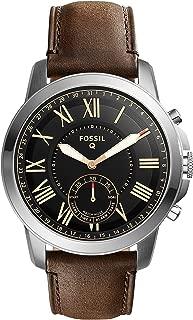 Fossil Men's Q Grant Hybrid Smartwatch Dark Brown Watch, (FTW1156)