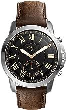Fossil Men's Silvertone Leather Watch