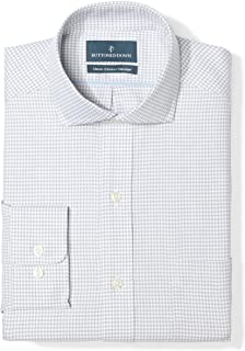 Amazon Brand - Buttoned Down Men's Classic Fit Cutaway Collar Pattern Dress Shirt